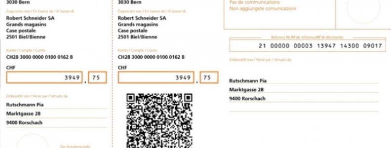 Der QR-Code ersetzt die heutigen Einzahlungsscheine